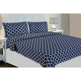 Quatrefoil Signature Deluxe Collection 100% Cotton Double Bedsheet with 2 Pillow Covers 186 TC - haus & kinder