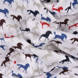 Blue Horse Collection 100% Cotton Muslin Swaddle Pack Of 3 (Anchor, Horse, Dots + 5 Wash Cloths) - haus & kinder
