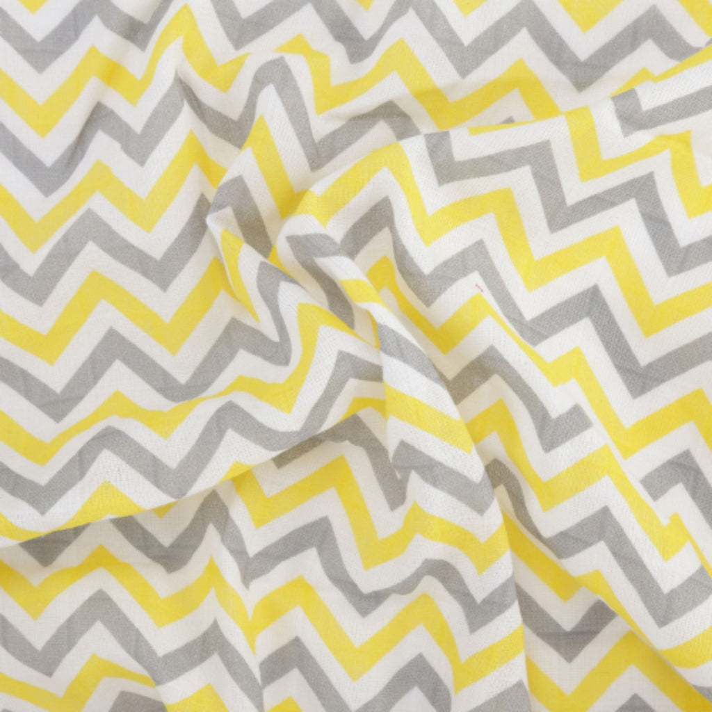 Chevron Stripes 100% Cotton Muslin Swaddle Pack Of 3 (Navy, Turquoise, Yellow) - haus & kinder