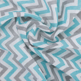 Chevron Stripes 100% Cotton Muslin Swaddle Pack Of 3 (Star Turquoise, Dots, Turquoise) - haus & kinder