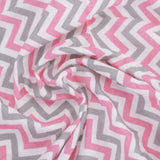 Chevron Stripes 100% Cotton Muslin Swaddle Pack Of 4 (Dots, Star Pink, Pink, Yellow) - haus & kinder