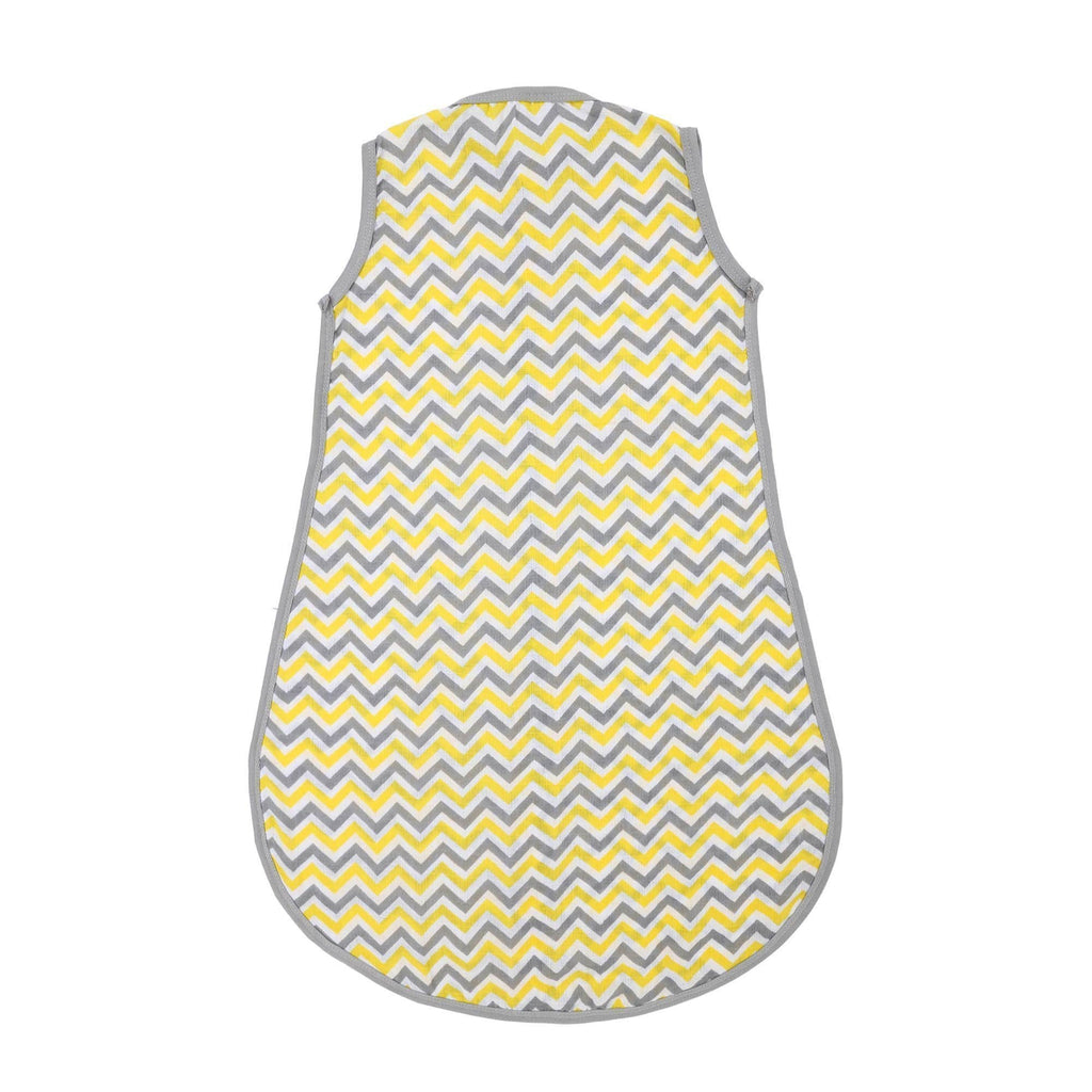 Classic Muslin Sleeping Bag / Zipme Sack with 2 Way Zipper (Chevron Yellow) - haus & kinder