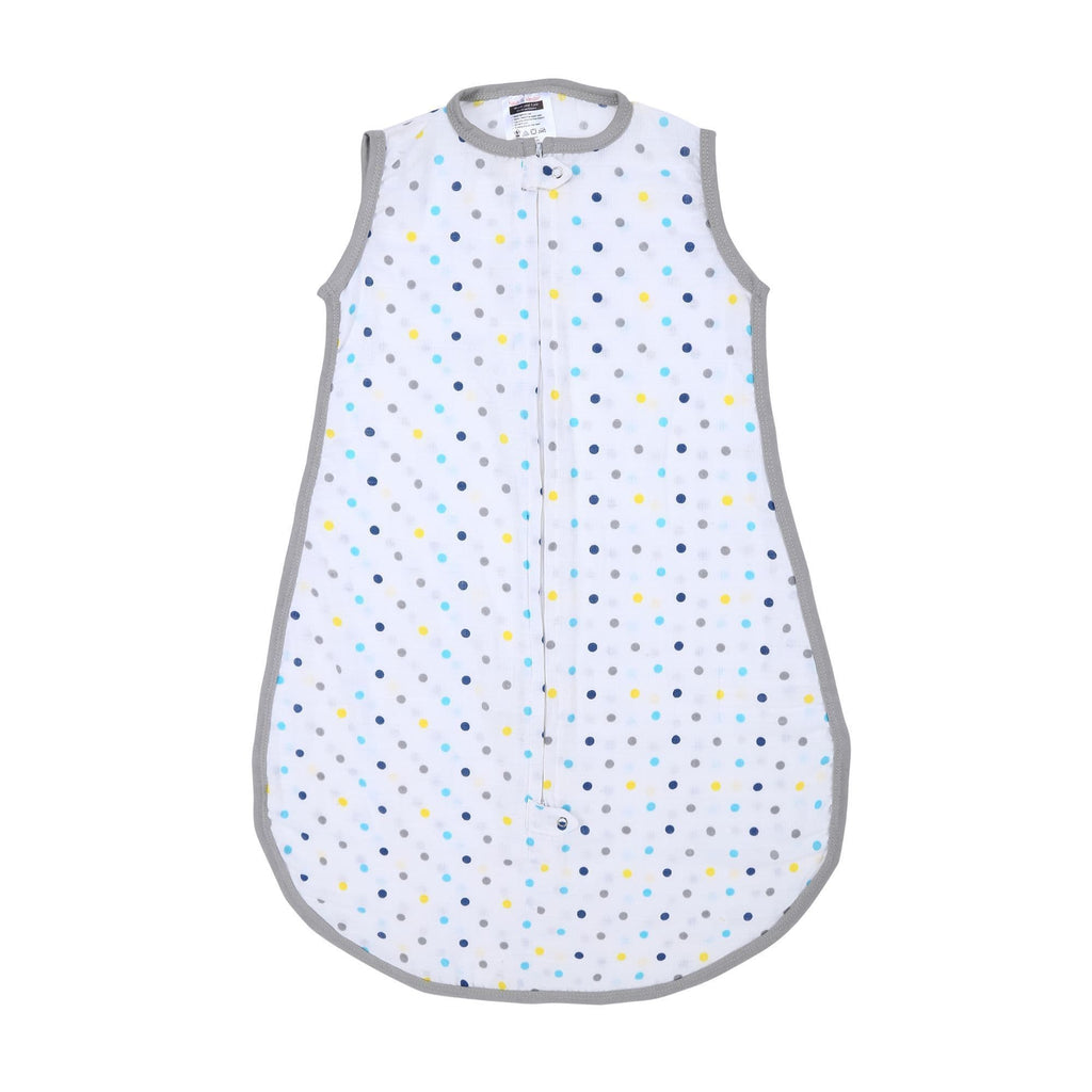 Classic Muslin Sleeping Bag / Zipme Sack with 2 Way Zipper (Dots) - haus & kinder
