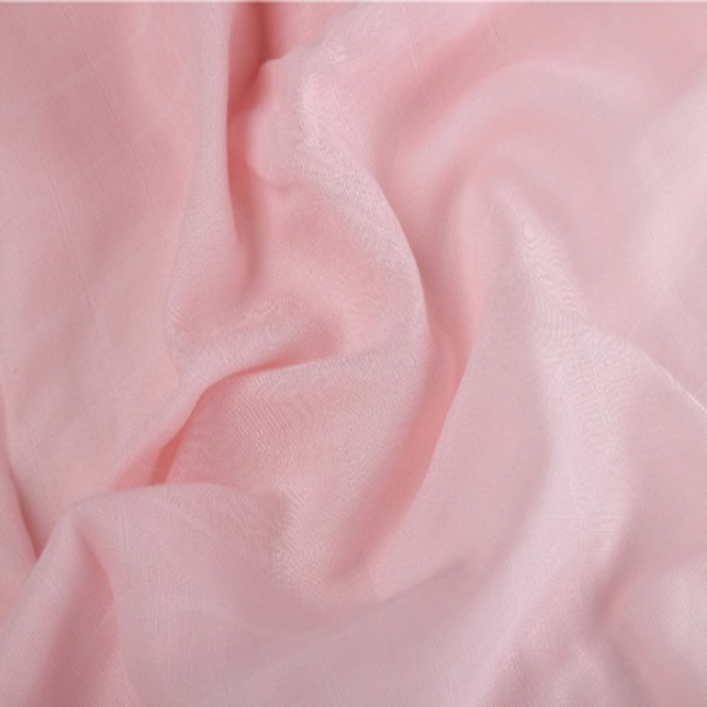 Think Pink Collection 100% Cotton Muslin Swaddle Pack Of 2 (Plain Pink, Flamingo) - haus & kinder