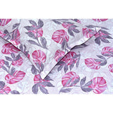 Tropical Leaves Eleganza 100% Cotton Double Bedsheet With 2 Pillow Covers 144 TC - haus & kinder