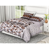 Summer Marble Delight 100% Cotton Double Bedsheet with 2 Pillow Covers 144 TC - haus & kinder