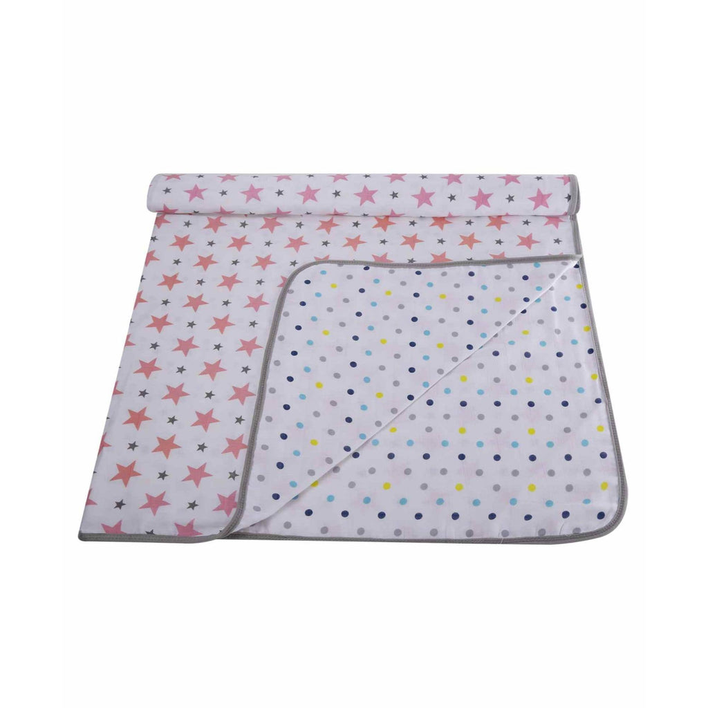 Muslin 100% Cotton Baby Dream Blanket For New Born (Pink, Dots) - haus & kinder