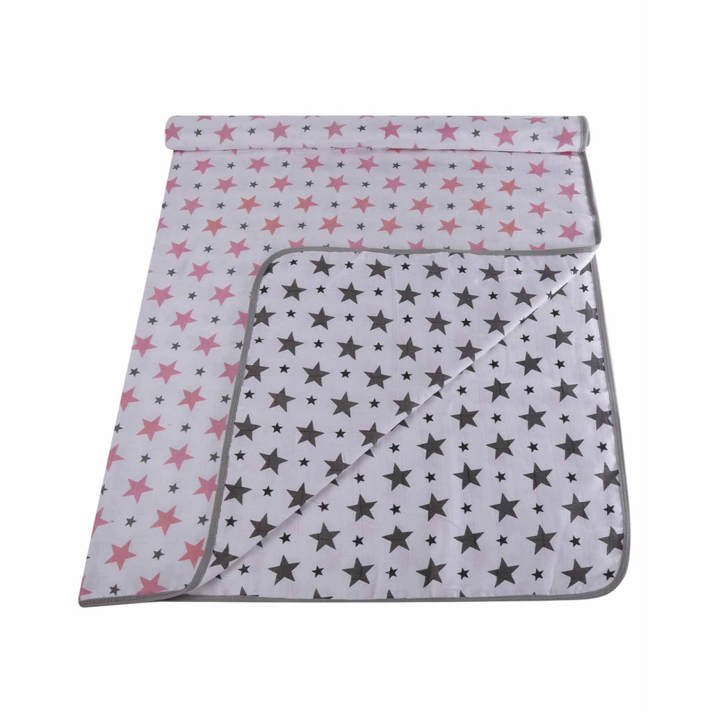 Muslin 100% Cotton Baby Dream Blanket For New Born (Pink, Grey) - haus & kinder