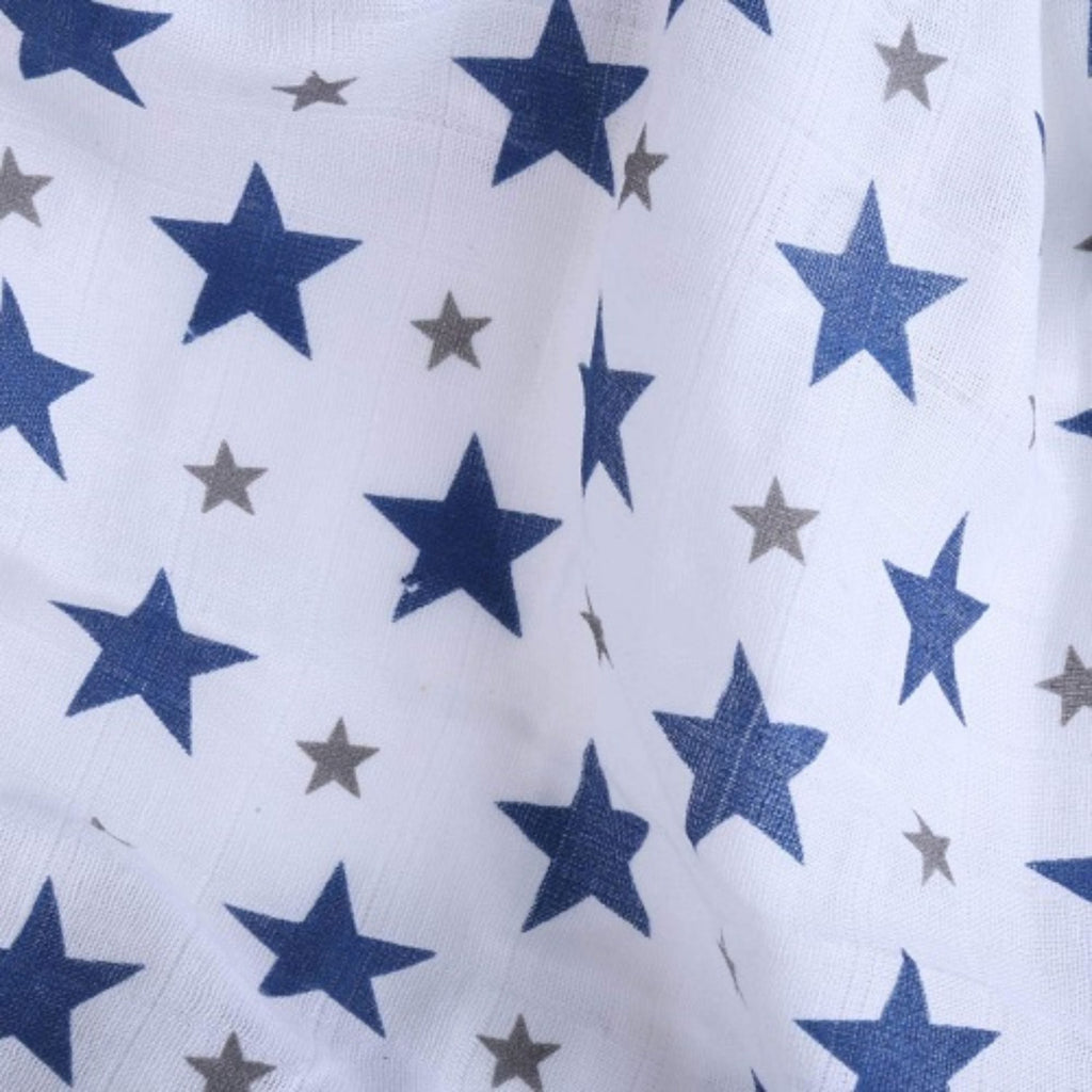 Chevron Stripes 100% Cotton Muslin Swaddle Pack Of 5 (Navy, Star Navy, Dots, Anchor, Horse) 100 x 100 CM - haus & kinder
