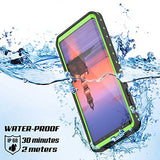 Galaxy Note 9 Waterproof Case, Punkcase [StudStar Series] [Slim Fit] [IP68 Certified] [Shockproof] [Dirtproof] [Snowproof] Armor Cover for Samsung Galaxy Note 9 [LIGHT GREEN]