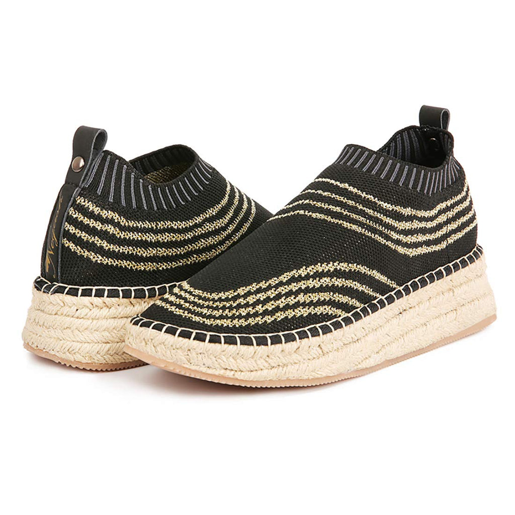 Negash Queen Jute Slip On Shoes