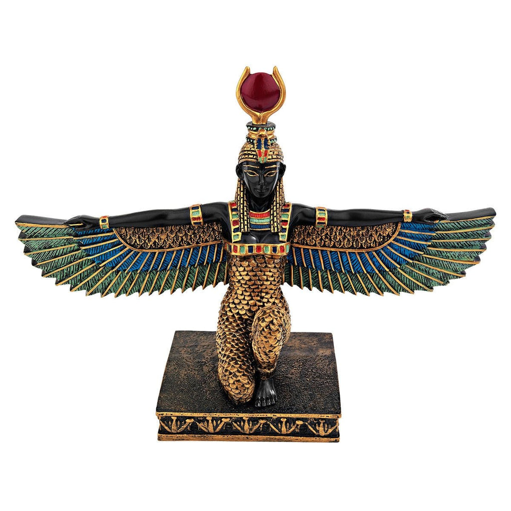 Design Toscano Isis Goddess of Beauty Egyptian Decor Statue, 9 Inch, Full Color