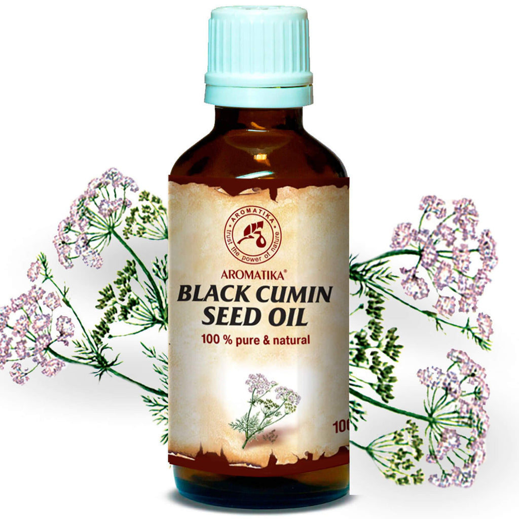 Black Cumin Oil 100ml - Egyptian Black Cumin Seed Oil - Egypt - 100% Pure & Natural - Best for Skin - Hair - Face - Body - uses as Pure Agent w/Essential Oil for Beauty - Glass Bottle