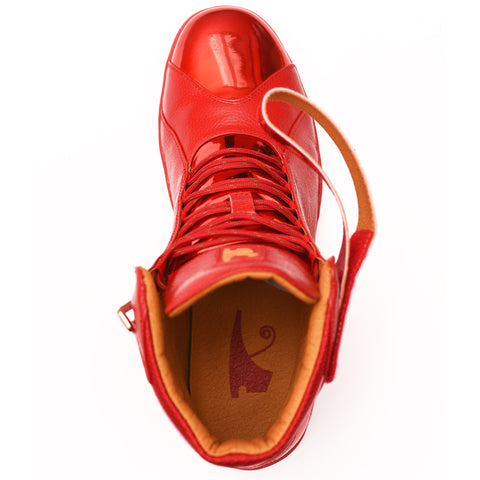 Negash ™ All Red Amun Ra Sneakers Royal Blood Edition