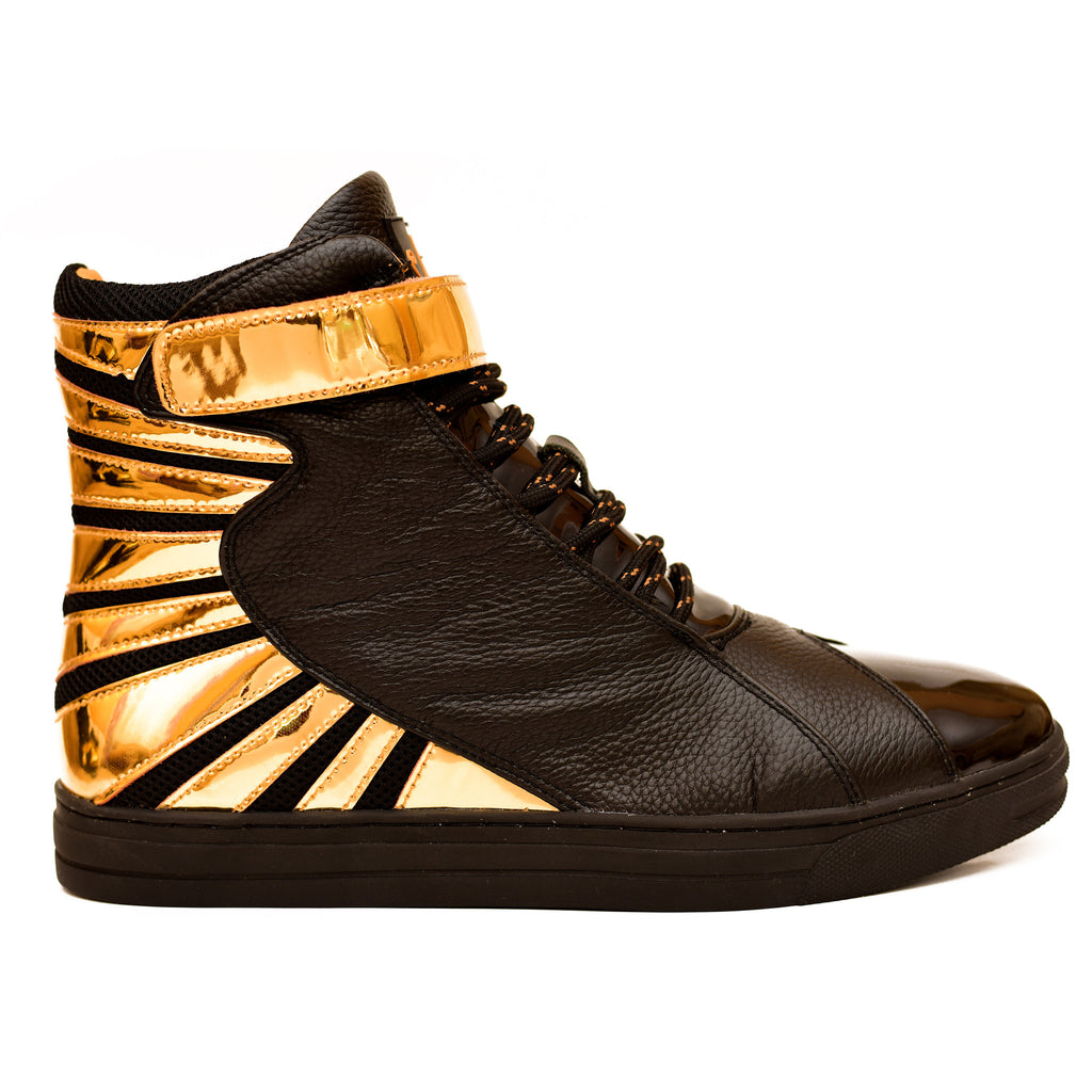 Negash ™ Amun Ra Sneaker Black & Gold (Limited Edition) - Negash Apparel & Footwear - 1