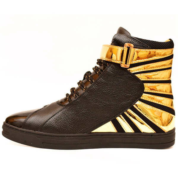 Negash ™ Amun Ra Sneaker Black & Gold (Limited Edition) - Negash Apparel & Footwear - 2