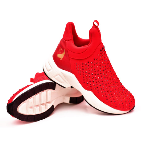 Negash ™ Auset Red Goddess Sneaker (Limited Edition) Pre-Order