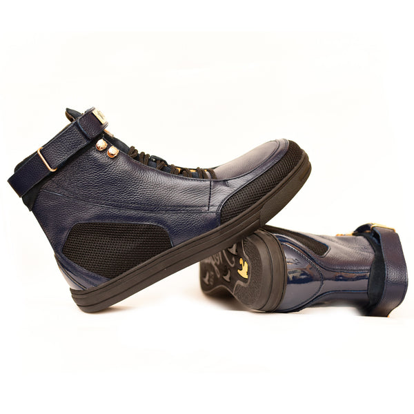 Negash ™ Navy Hotep 4.0 Boots (Youth) - Negash Apparel & Footwear - 2