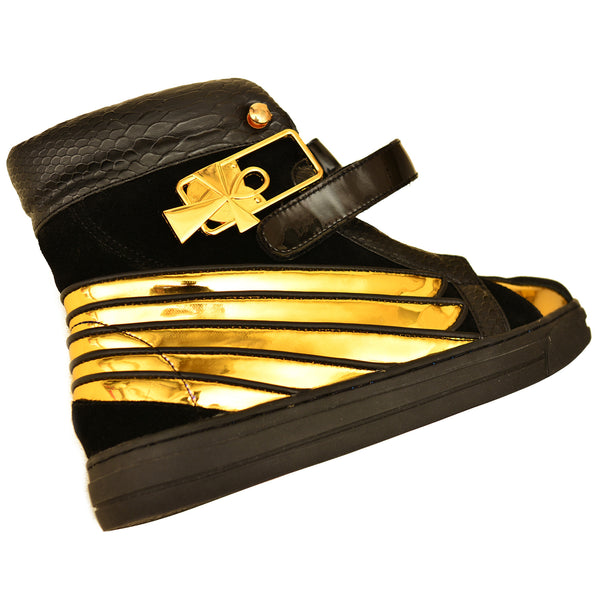 Negash ™ Black & Gold  Ma'at Sneakers (Women) - Negash Apparel & Footwear - 3