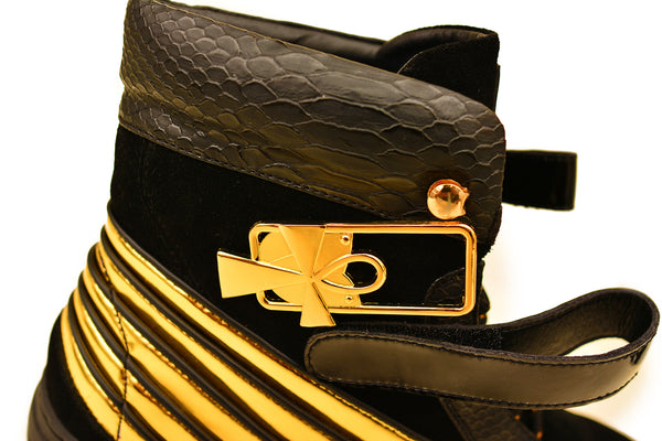 Negash ™ Black & Gold  Ma'at Sneakers (Women) - Negash Apparel & Footwear - 2