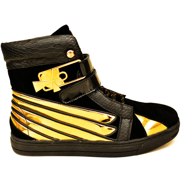 Negash ™ Black & Gold  Ma'at Sneakers (Women) - Negash Apparel & Footwear - 1
