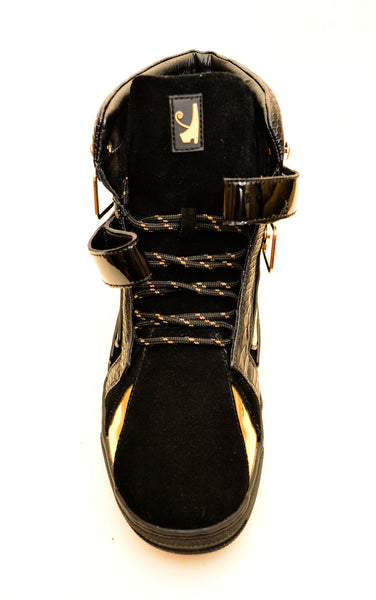 Negash ™ Black & Gold  Ma'at Sneakers (Women) - Negash Apparel & Footwear - 5