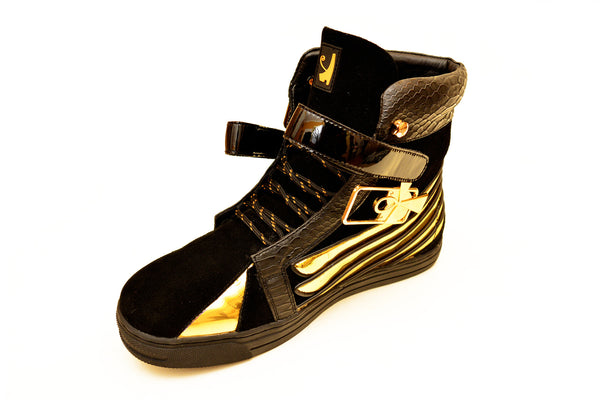 Negash ™ Black & Gold  Ma'at Sneakers (Women) - Negash Apparel & Footwear - 4