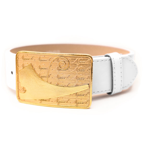 NegashNYC ™ Gold Signature White Belt LMTD