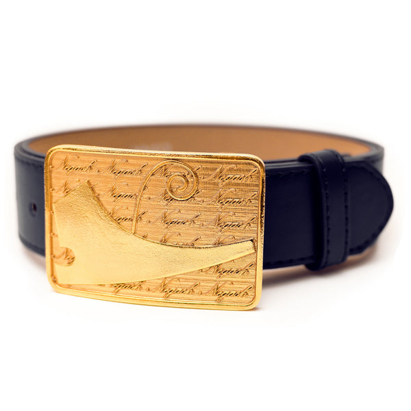 NegashNYC ™ Gold Signature Navy Belt LMTD