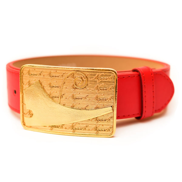 *PRE-ORDER 6/15* NegashNYC ™ Gold Signature Red Belt LMTD