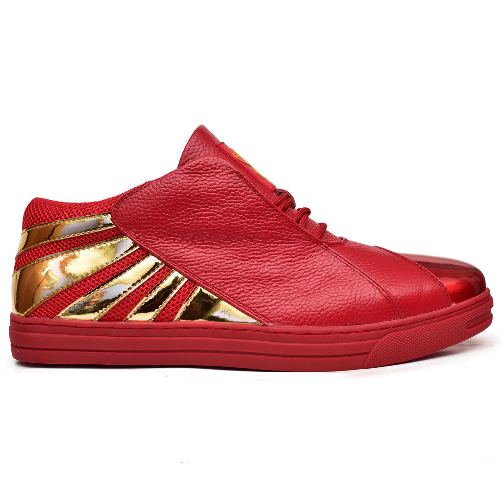 Negash ™ Amun Ra Cherry & Gold  Low-top Sneaker (Limited Edition)