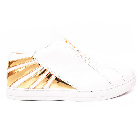 Negash ™ Amun Ra White & Gold Low-top Sneaker (Limited Edition)