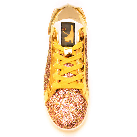 Pink & Gold Patent Heka  Sneaker