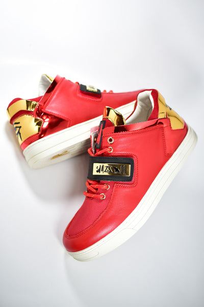 Negash ™ Red & Gold Wadjet Sneakers (Limited Edition) - Negash Apparel & Footwear - 3