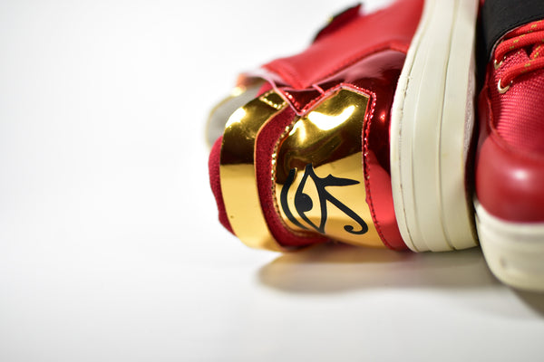 Negash ™ Red & Gold Wadjet Sneakers (Limited Edition) - Negash Apparel & Footwear - 4