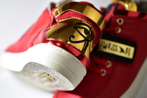 Negash ™ Red & Gold Wadjet Sneakers (Limited Edition) - Negash Apparel & Footwear - 2
