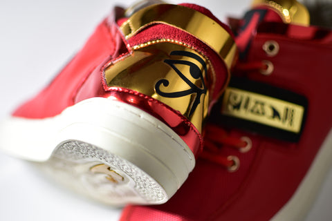 Negash ™ Red & Gold Wadjet Sneakers (Limited Edition)