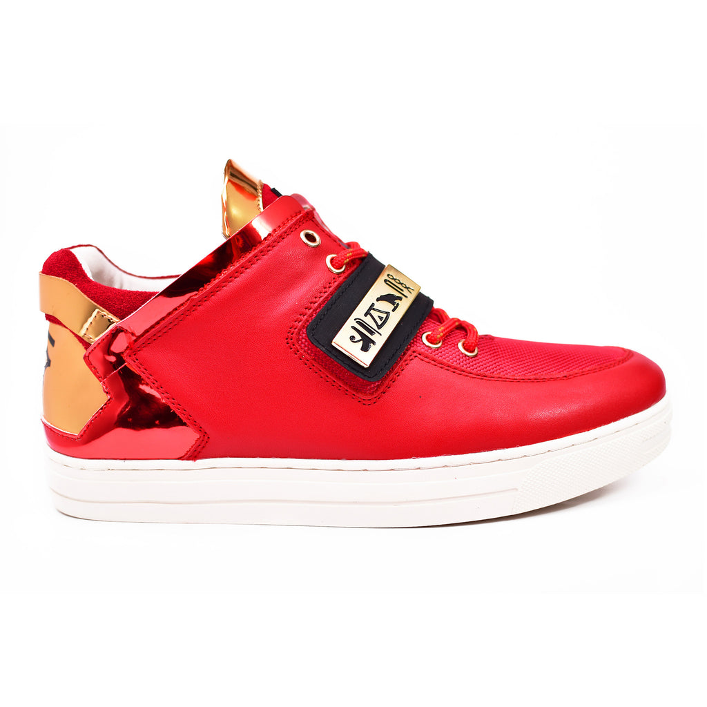 Negash ™ Red & Gold Wadjet Sneakers (Limited Edition) - Negash Apparel & Footwear - 1