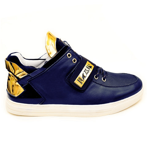 Negash ™ Navy & Gold Wadjet Sneakers (Limited Edition) - Negash Apparel & Footwear
