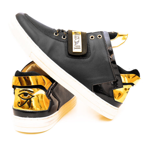 Negash ™ Black & Gold Wadjet Sneakers (Limited Edition)