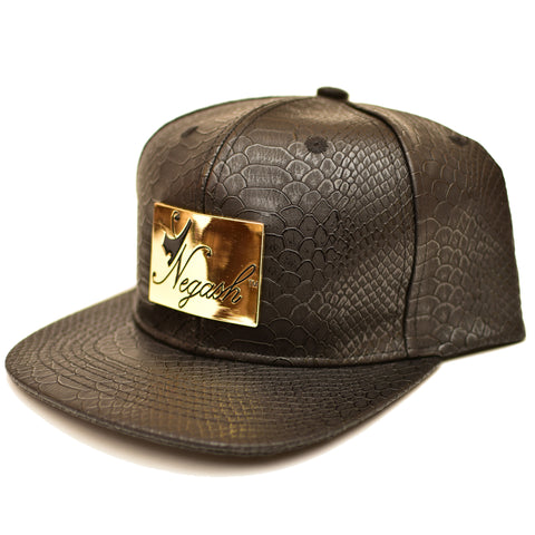 Negash ™ Leather Signature Snap-Back