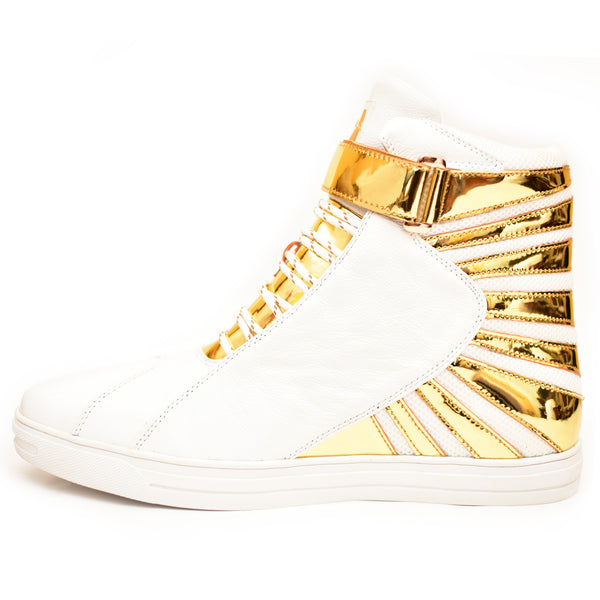 Negash ™ Amun Ra Sneakers White & Gold