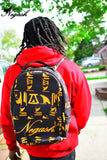Gold Negash (Signature) Hieroglyphic Back-Pack - Negash Apparel & Footwear - 2