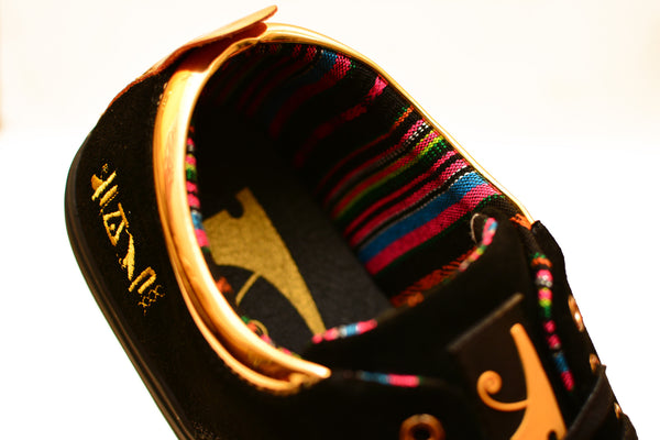 Negash ™ Black & Gold (Limited Edition) Ptah Sneaker - Negash Apparel & Footwear - 4