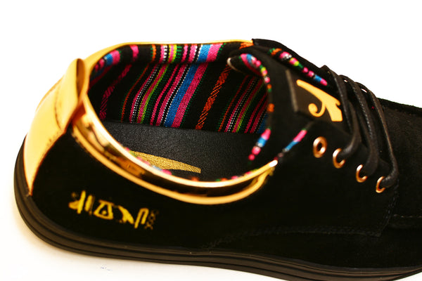Negash ™ Black & Gold (Limited Edition) Ptah Sneaker - Negash Apparel & Footwear - 3