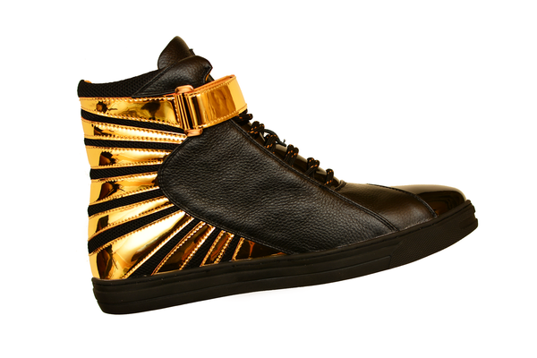 Negash ™ Amun Ra Sneaker Black & Gold (Limited Edition) - Negash Apparel & Footwear - 5