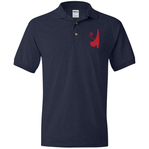 Red Deshret Jersey Polo Shirt