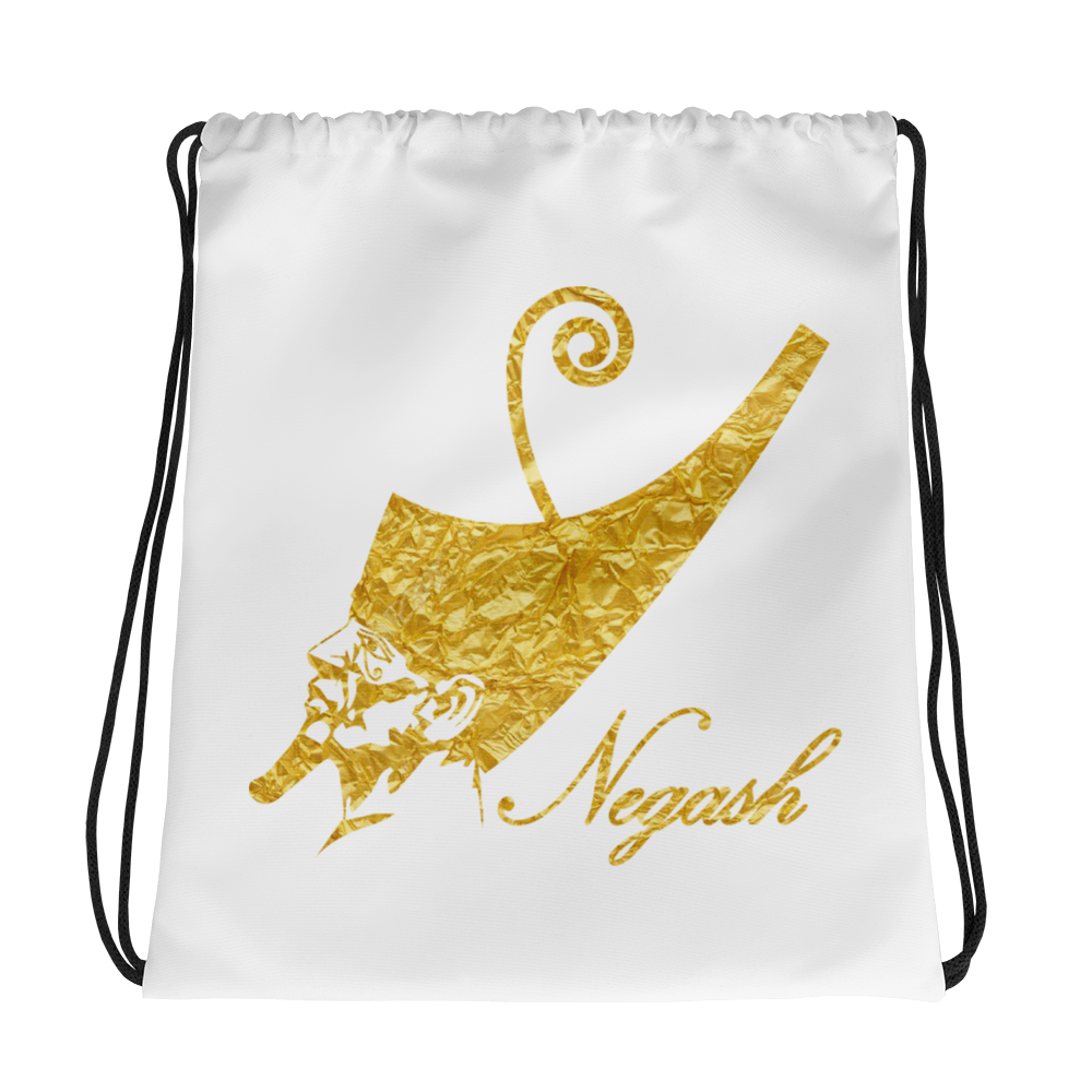 Negash ™ Gold Pharaoh Drawstring bag