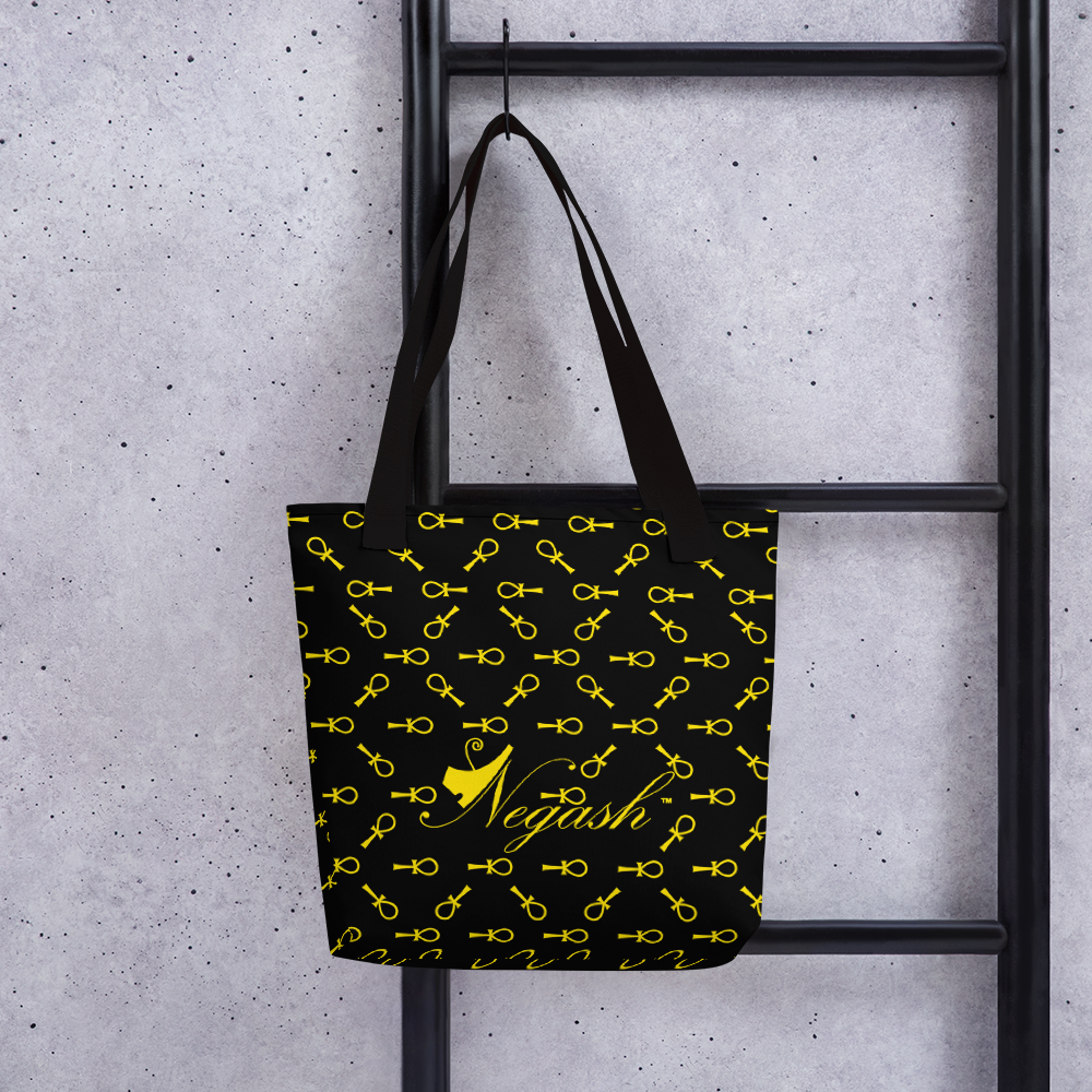 Negash Sig Ankh All-Over Print Tote