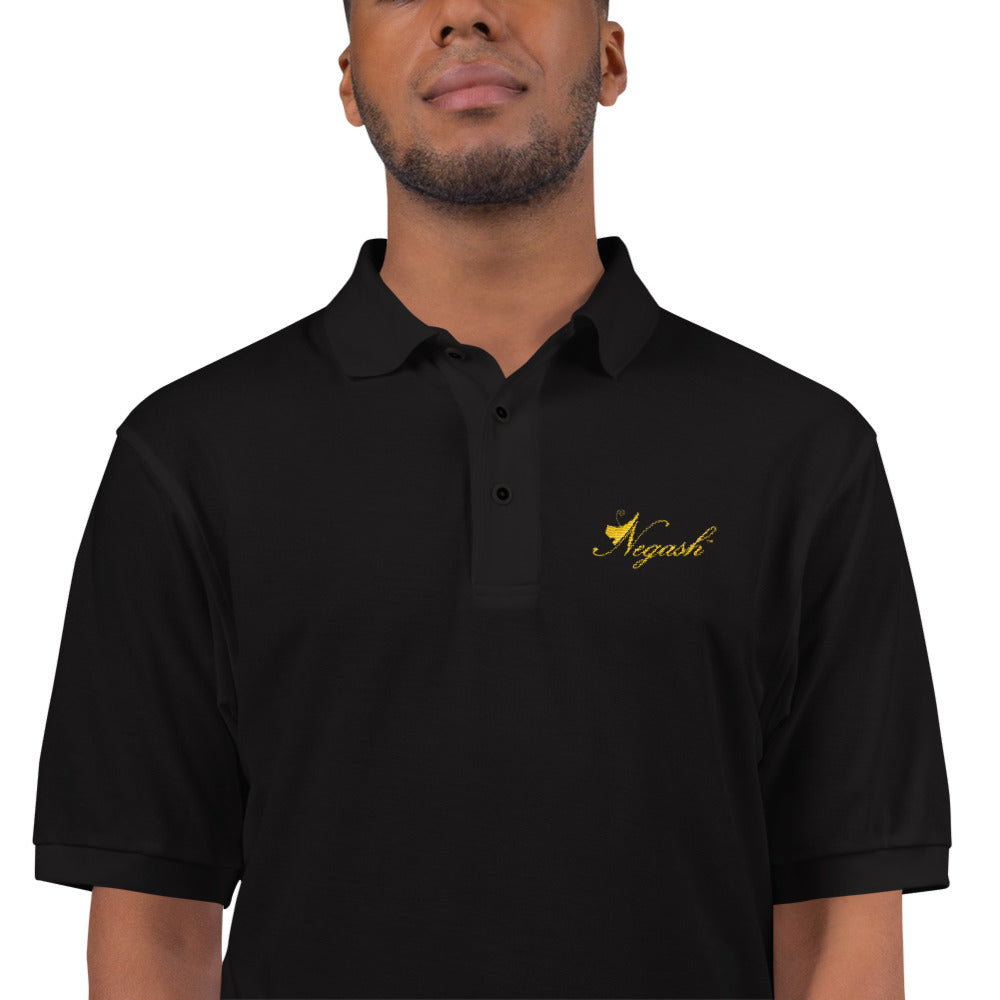 Negash Signature (Gold) Embroidered Polo Shirt